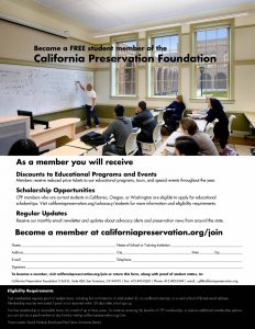 Support For Students California Preservation Foundation