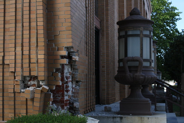 August 2014 South Napa Earthquake damage to Napa Franklin Main Post Office