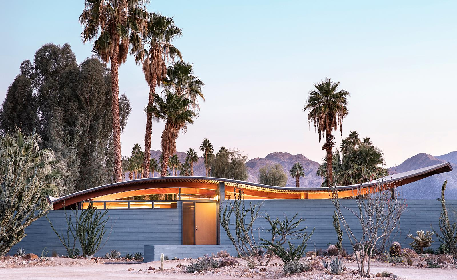 Three Nights at Walter S. White's Miles C. Bates (Wave) House in Palm Springs